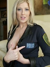Michelle - Police Outfit With Stockings -  Michelles Bedroom